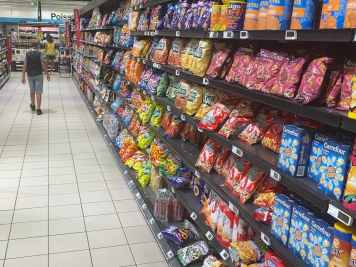 The imported crisps selection