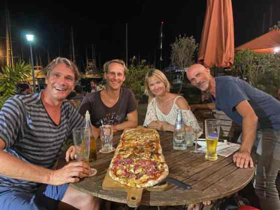 Pizza night with Virginie and Cyril