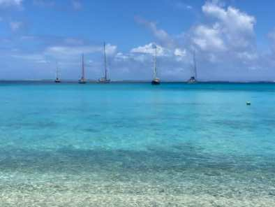 At the Huahine anchorage