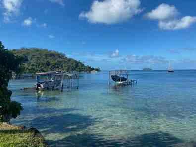 At the Yacht Club mooring in Bora Bora