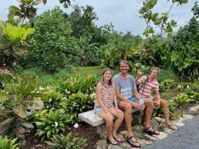 Exploring Raiatea's botanical garden