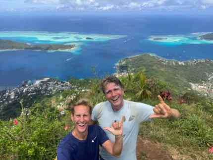 View on Bora Bora makes the climb worthwhile