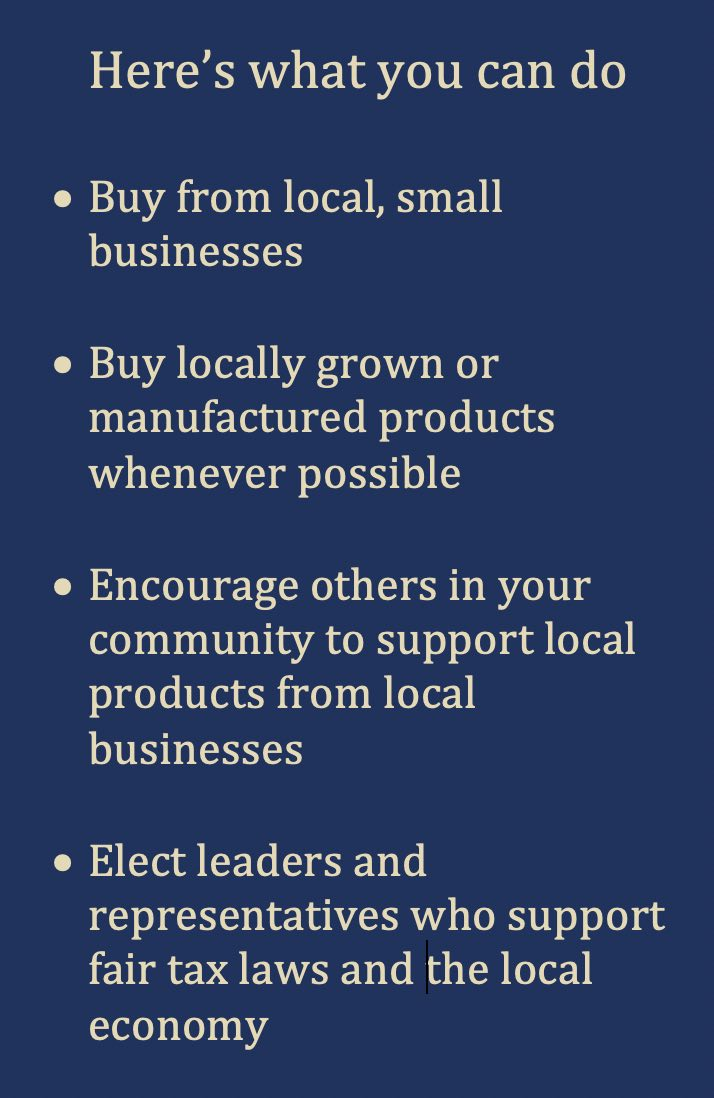 What you can do Buy Local