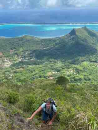 When hiking turns into climbing