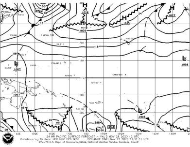 The NOAA gale forecast