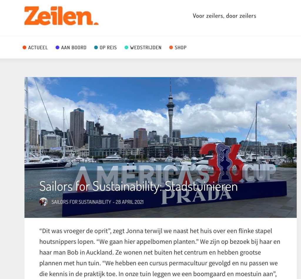 Sailors for Sustainability in Zeilen about Urban Gardening