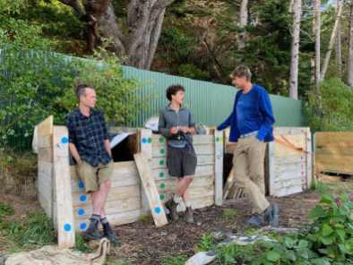 Sheldon and Rory explain the art of making compost from food scraps to Ivar