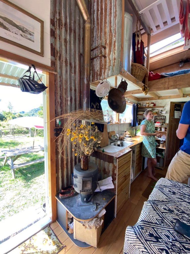 Eva's home-made wood stove