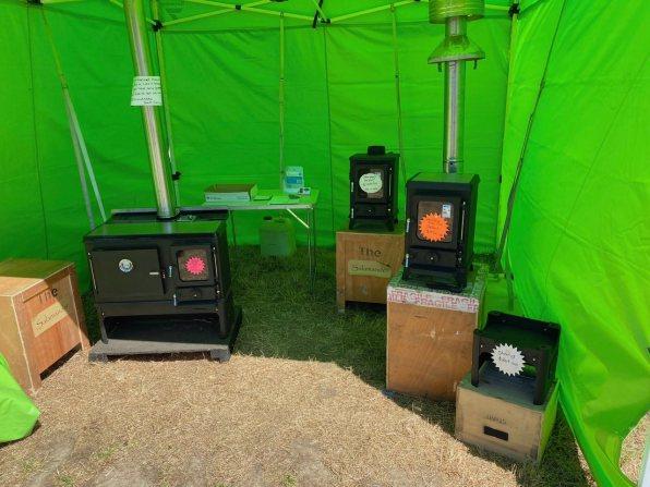 Plenty of wood-stoves on offer