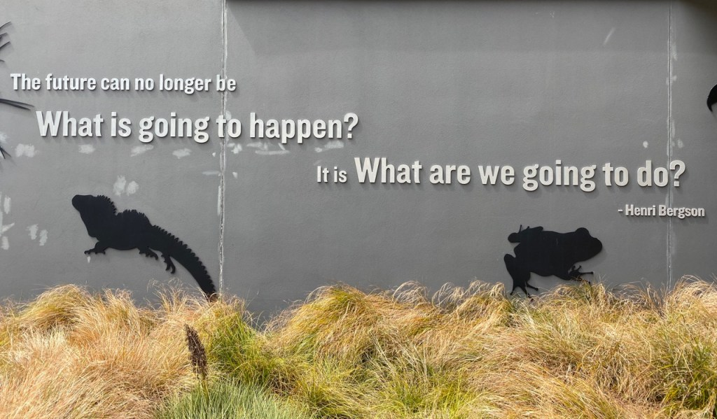 Inspiring words at Zealandia's entrance