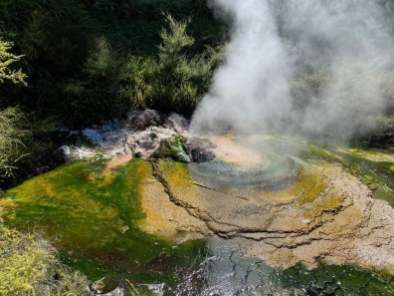 Geyser in the volcanic valley