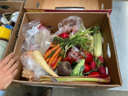 Just-in-time rescue of healthy fresh food