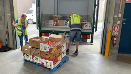 Loading the truck at Kiwi Harvest Dunedin