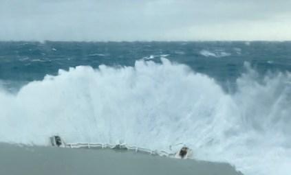 """It's quite rough in the Cook Strait"""