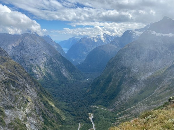 View from Gertrude's saddle towards Milford Sound