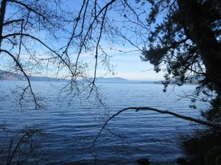 Saanich Inlet looking north - Saltspring Island in the distance