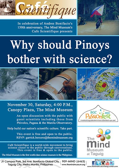 The Mind Museum's Why should Pinoys Bother with Science?