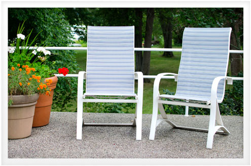 how to replace fabric in patio chair