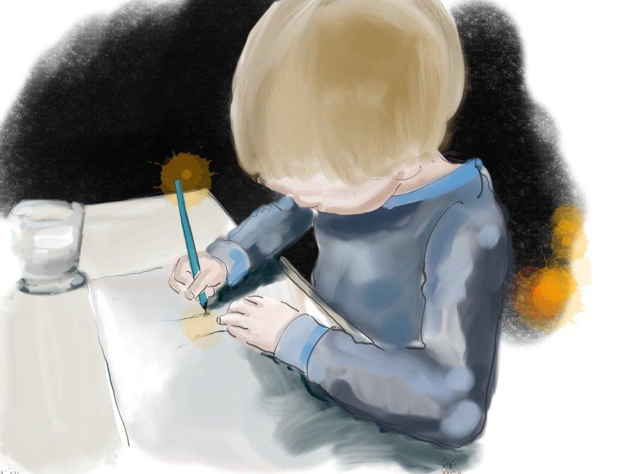 Nachtschicht. Henri malt