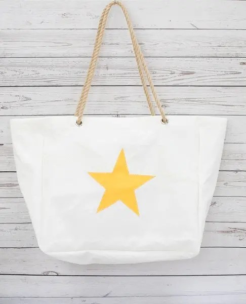 Yellow Star Beach Bag