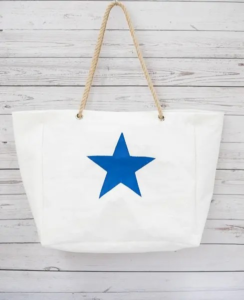 Royal Blue Star Beach Bag