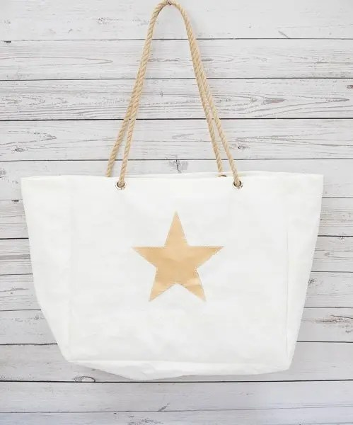 Gold Star Beach Bag