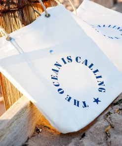 The Ocean is Calling Shopper made from recycled sails