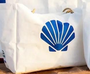 Royal Blue Shell Marine Life Beach Bag