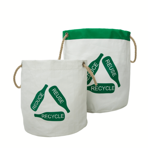 recycling buckets small and large