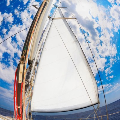 Sail with blue sky