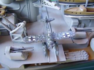 "Particolare della corazzata tedesca ""Tirpitz"" - Detail of Battleship ""Tirpitz"""