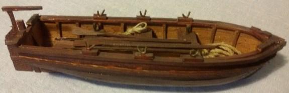 Dettaglio della scialuppa - Detail of the boat