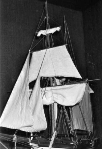 Dettaglio della velatura - Detail of the sails