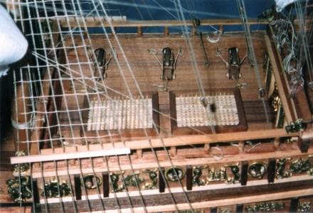 Dettaglio del ponte dei cannoni - Detail of the gun deck