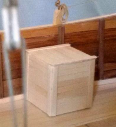 Giunca cinese, dettaglio della cassa - Chinese junk, detail of the box
