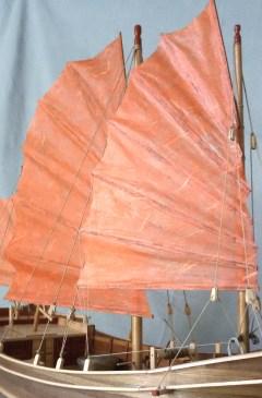 Giunca cinese, vela di trinchetto - Chinese junk, foremast sail
