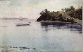 Blockhouse Point with Lobster Point in background. Trout Point is just out of frame to the left. Warwick & Rutter postcard ca. 1907
