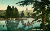Looking across Warren Pond to Warren Rear range light ca. 1910.