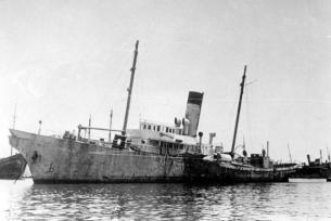 SS Hachayal Halvrai [Hebrew Fighter] in Haifa ca. 1946