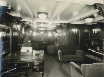 1st Class passenger lounge - note the piano