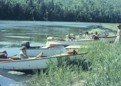 Club boats up the West River 1960.