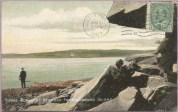 Postcard image of harbour entrance seen from the east published by McCoy Printing of Moncton. Although not credited to Louson this image is very much in his style. The same image also appears in a card from Taylor's Bookstore in Charlottetown.