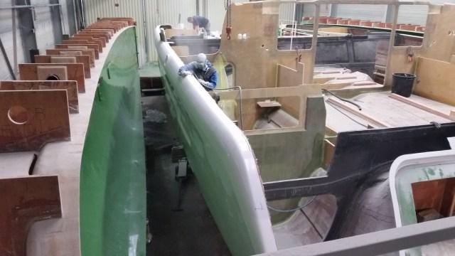 Port hull and bulkheads