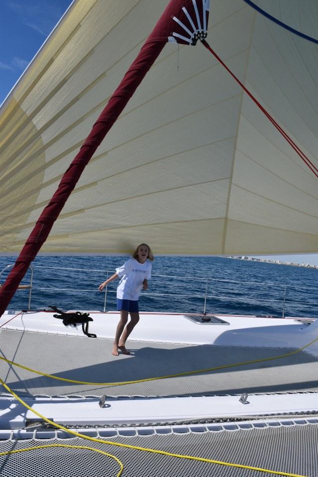Small girl, big sail!