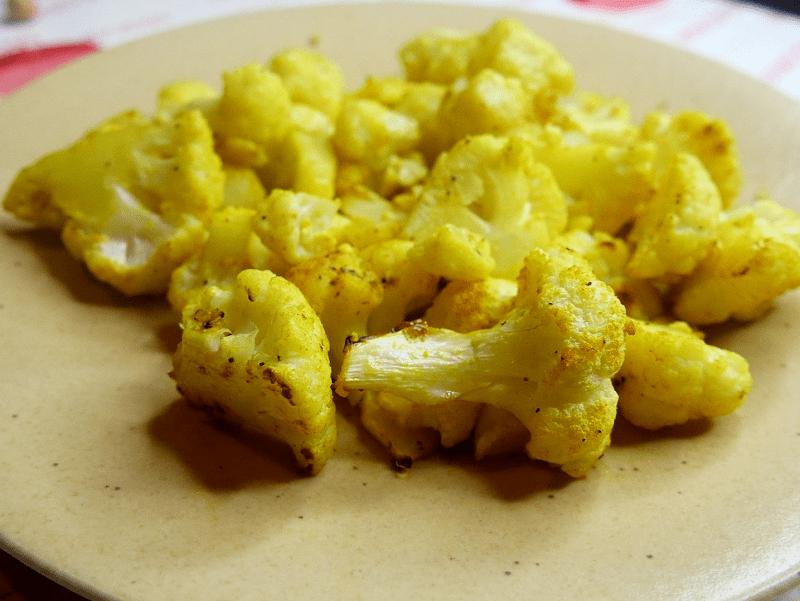 Chou fleur rôti au curcuma - Chou-fleur rôti au curcuma