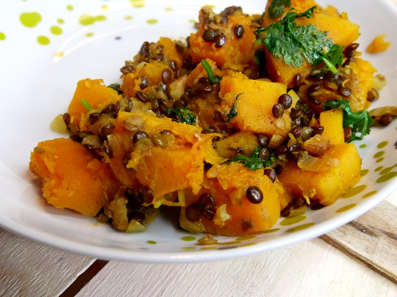 Curry de lentilles et butternut