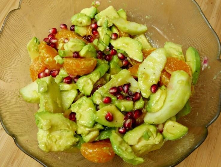 Salade clémentine et avocat - Coup de cœur de Mars : Salade d'avocats, clémentines & pomme acidulée