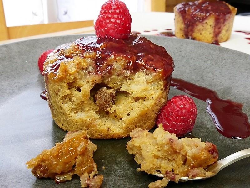 Gâteau de riz & coulis de fruits rouges