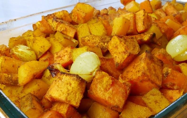 Butternut & patate douce rôties