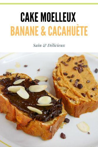 Cake moelleux banane et cacahuète - Cake Moelleux à la Banane